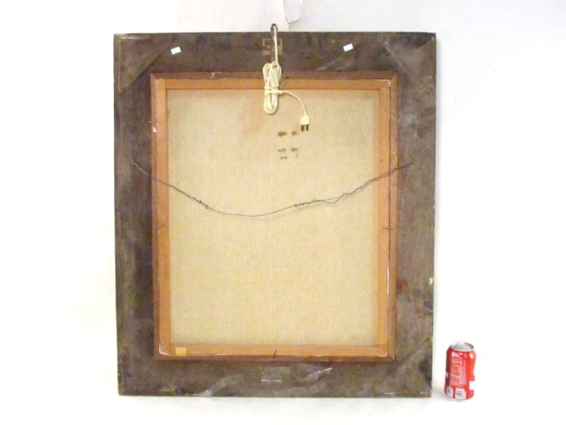 VINTAGE MIXED MEDIA PAINTING SIGNED MILAN - 5