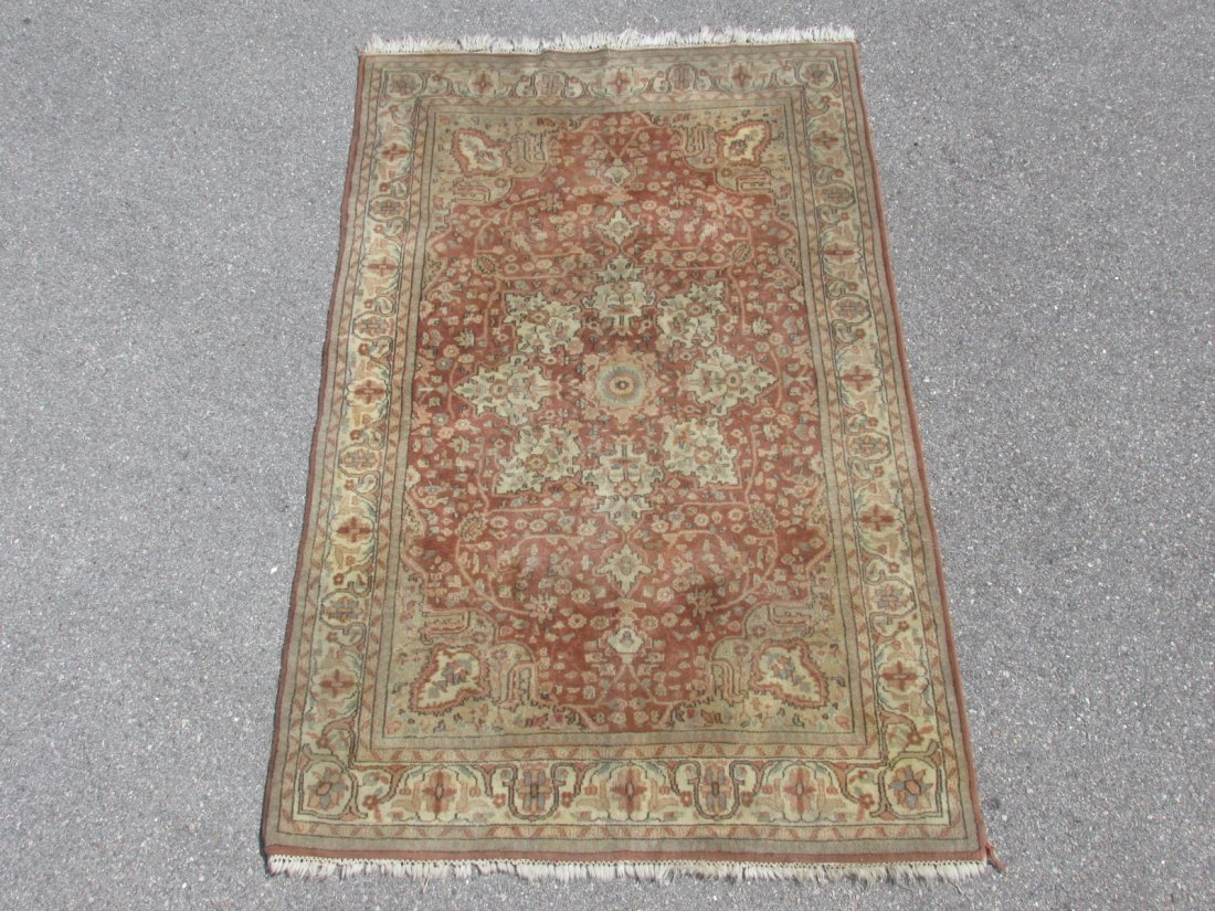 PAK-PERSIAN HAND KNOTTED WOOL RUG 4' X 6'4""