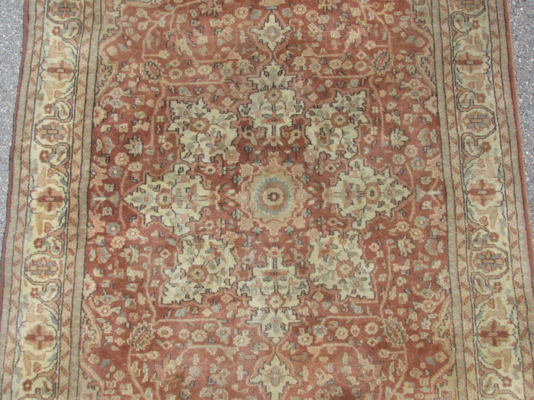 """PAK-PERSIAN HAND KNOTTED WOOL RUG 4' X 6'4"""" - 2"""