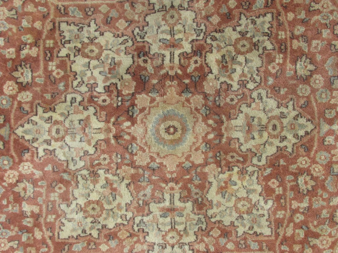 """PAK-PERSIAN HAND KNOTTED WOOL RUG 4' X 6'4"""" - 4"""