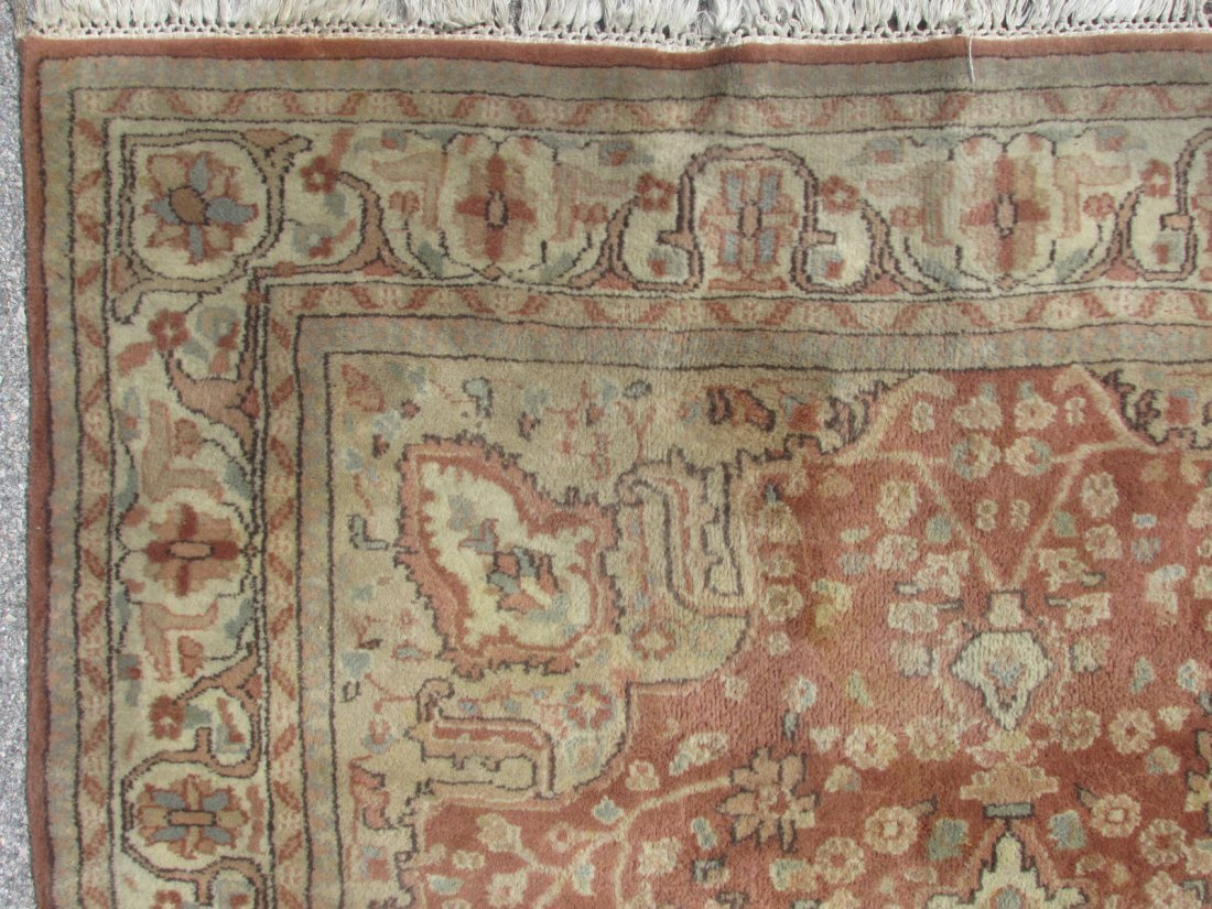 """PAK-PERSIAN HAND KNOTTED WOOL RUG 4' X 6'4"""" - 5"""