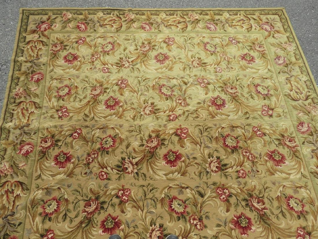 """NEEDLEPOINT FLORAL RUG - 7'9"""" x 9'9"""" - 4"""
