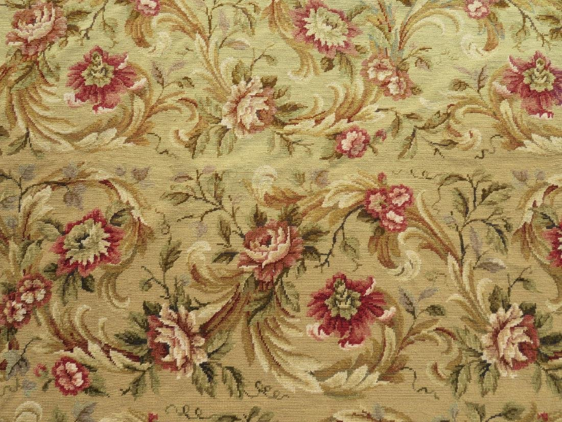 """NEEDLEPOINT FLORAL RUG - 7'9"""" x 9'9"""" - 5"""