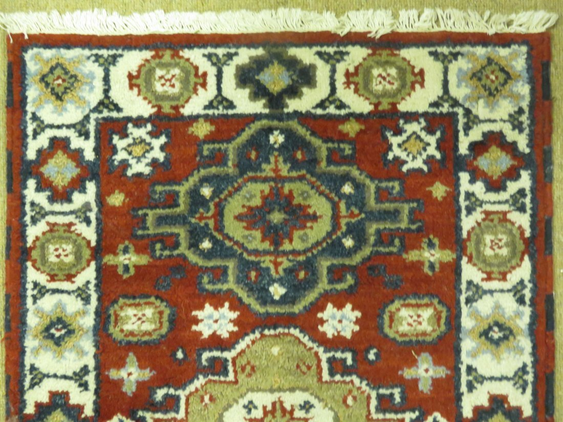 SMALL HAND KNOTTED WOOL RUG 2' X 3' - 2
