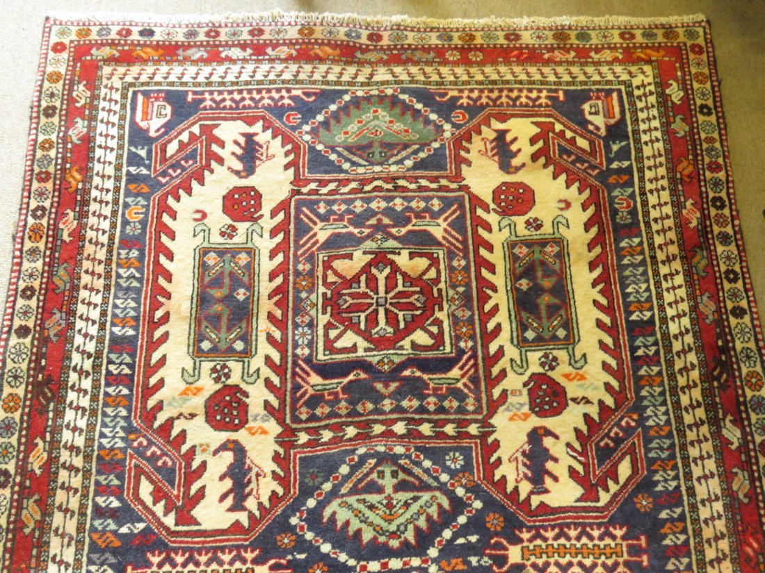 """CAUCASIAN STYLE HAND KNOTTED WOOL RUG - 4'4"""" X 10' - 3"""