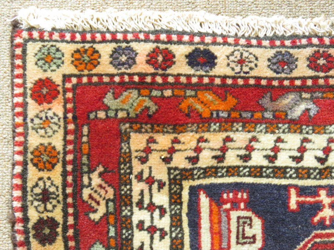 """CAUCASIAN STYLE HAND KNOTTED WOOL RUG - 4'4"""" X 10' - 5"""
