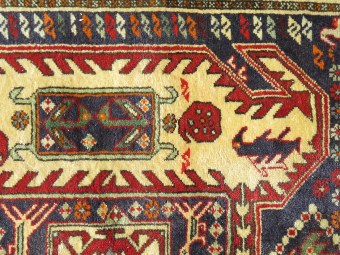 """CAUCASIAN STYLE HAND KNOTTED WOOL RUG - 4'4"""" X 10' - 6"""
