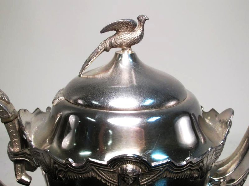 ANTIQUE ROGERS SMITH & CO SILVER PLATED TEAPOT - 3