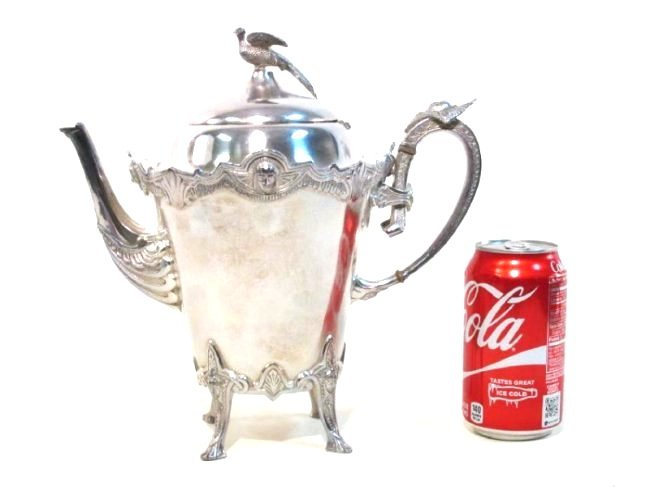 ANTIQUE ROGERS SMITH & CO SILVER PLATED TEAPOT - 8