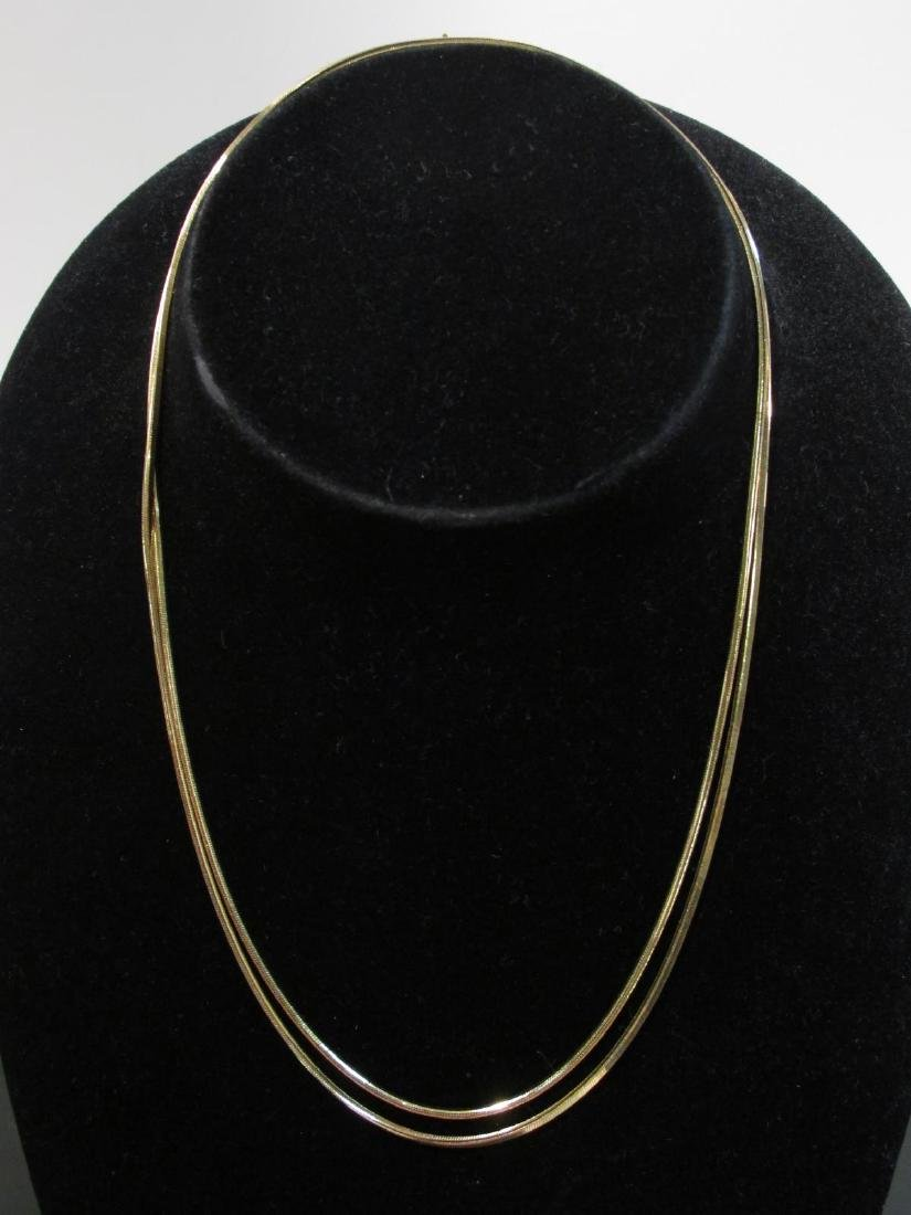 "18K YELLOW GOLD SNAKE STYLE NECKLACE 36"" - 19.2 GR"