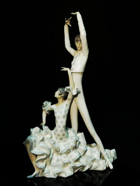 "LARGE LLADRO PORCELAIN FIGURINE ""FLAMENCO DANCERS"" - 2"