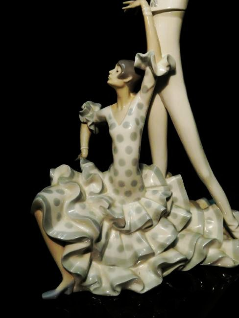 "LARGE LLADRO PORCELAIN FIGURINE ""FLAMENCO DANCERS"" - 3"