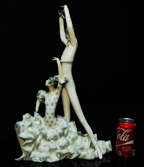 "LARGE LLADRO PORCELAIN FIGURINE ""FLAMENCO DANCERS"" - 6"