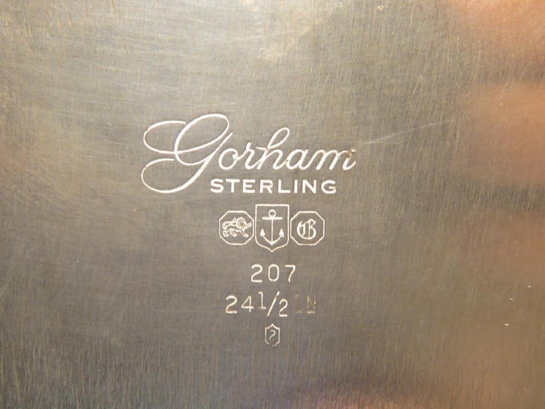 HEAVY GORHAM STERLING SILVER PLATTER - 2