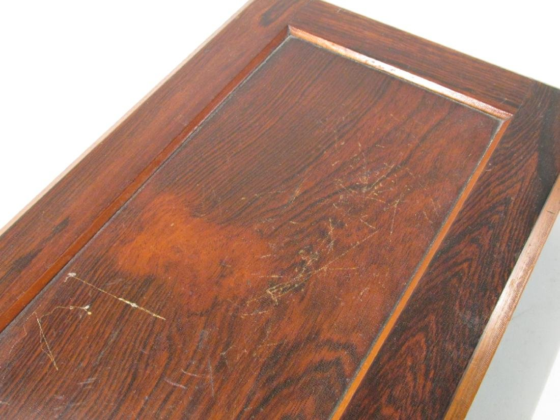 ANTIQUE SALESMAN SAMPLE PARQUETRY CHEST & A BOX - 10