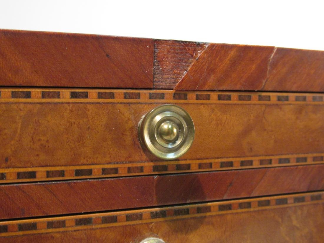 ANTIQUE SALESMAN SAMPLE PARQUETRY CHEST & A BOX - 3