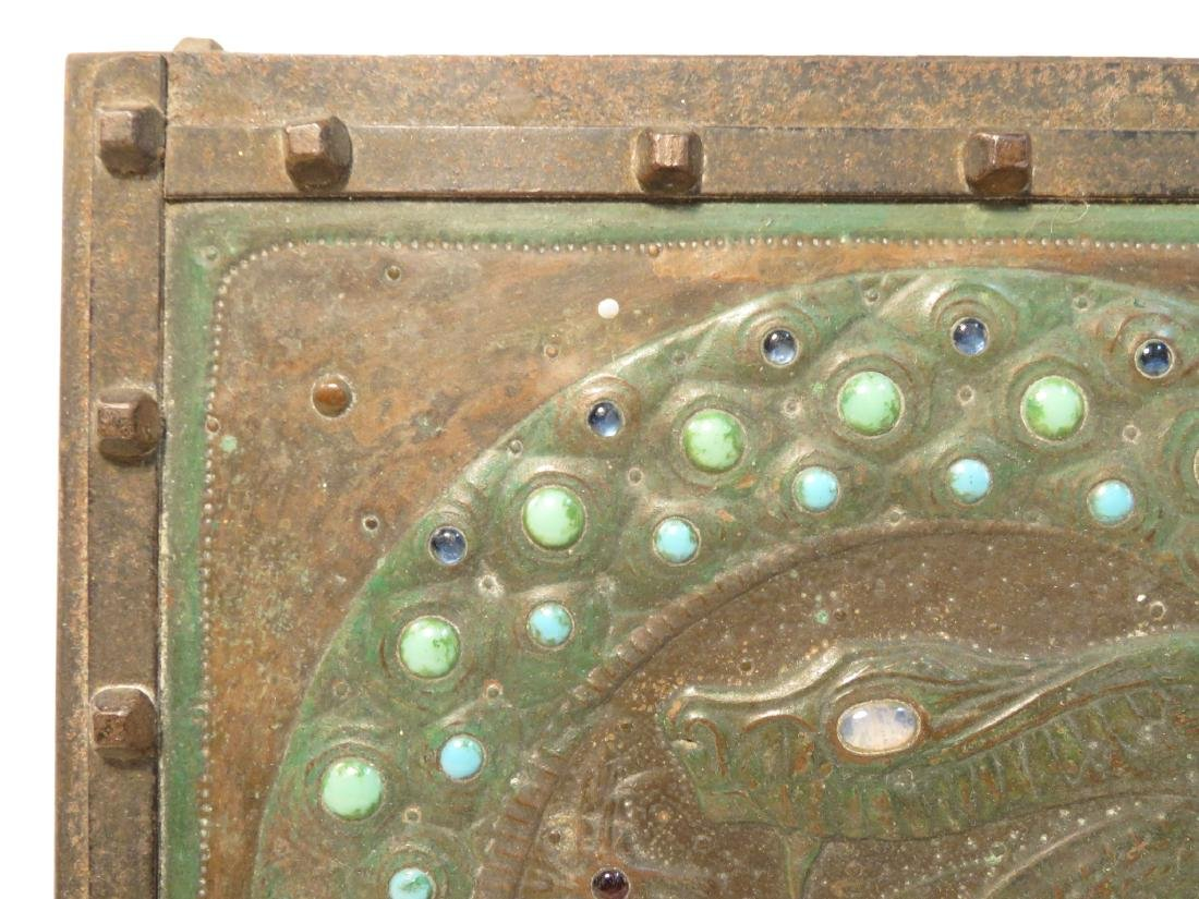 ALFRED DAGUET ART NOUVEAU JEWELED & EMBOSSED BOX - 5
