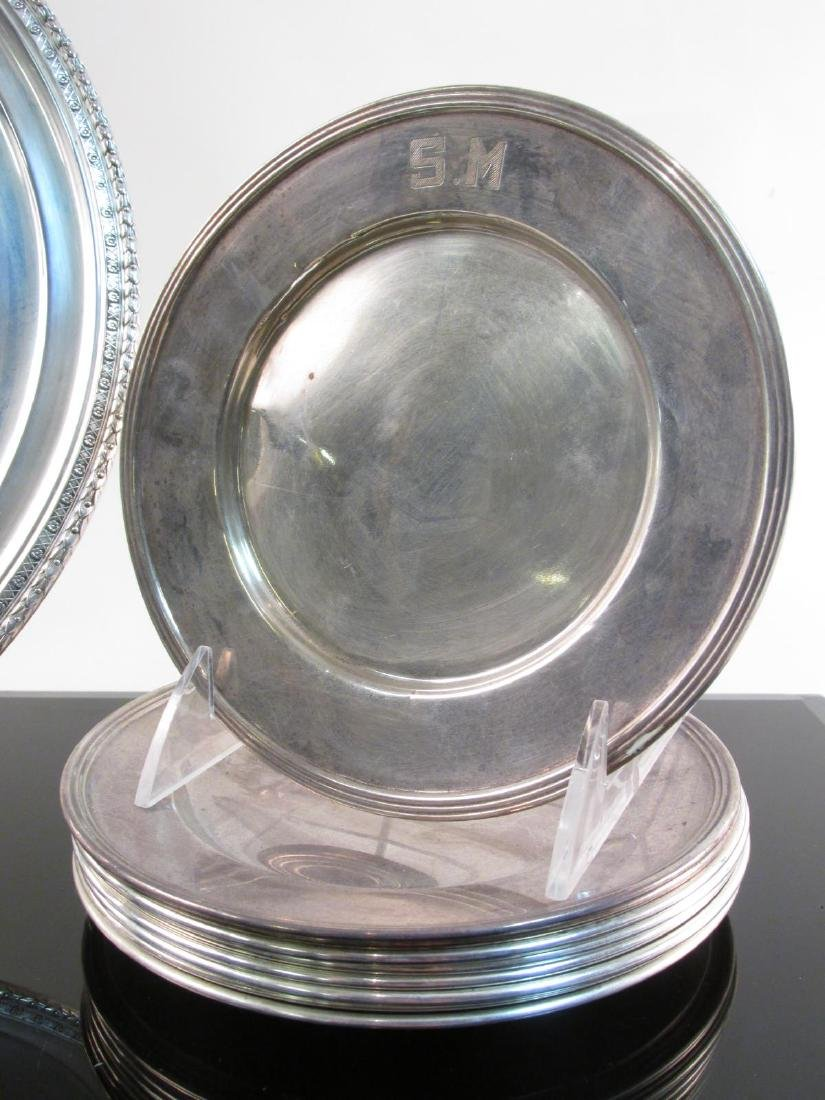 STERLING SILVER CHARGER & BREAD PLATES: 37.5 TROY - 2