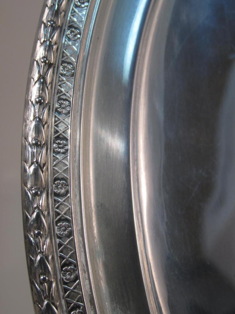 STERLING SILVER CHARGER & BREAD PLATES: 37.5 TROY - 3