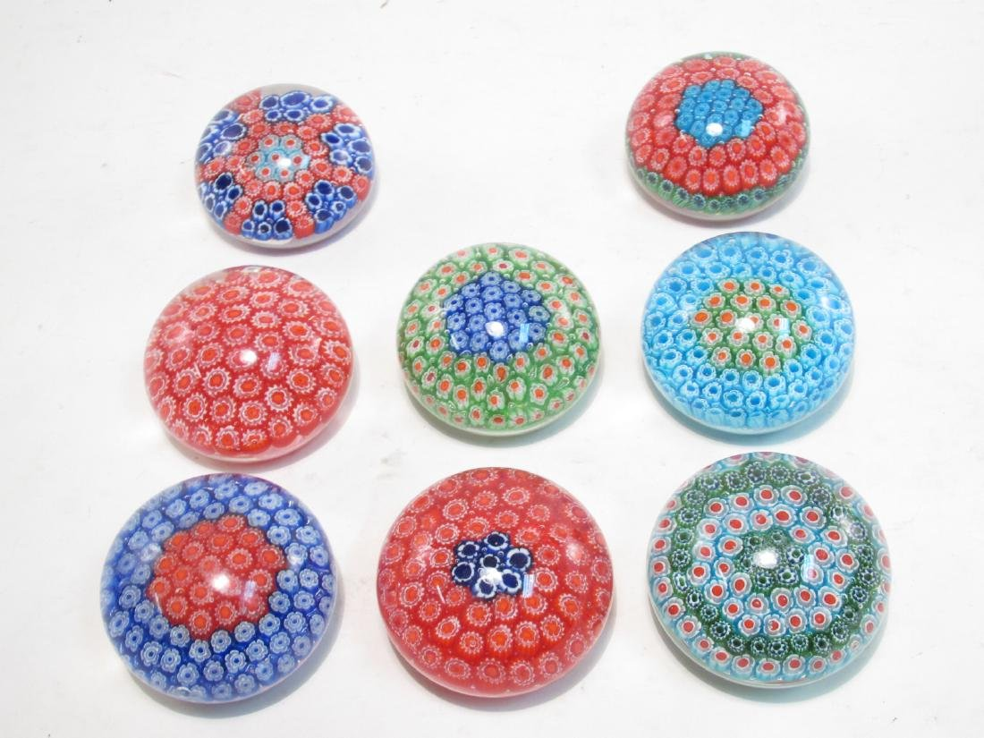 ITALIAN MURANO ART GLASS MILLEFIORI PAPERWEIGHTS 8