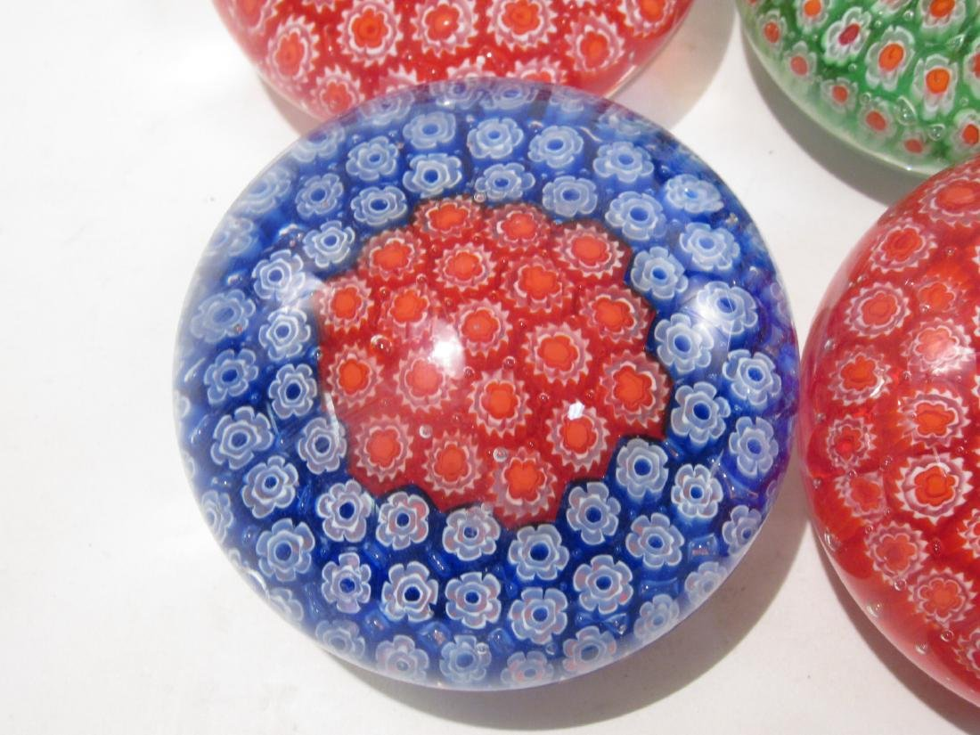 ITALIAN MURANO ART GLASS MILLEFIORI PAPERWEIGHTS 8 - 2