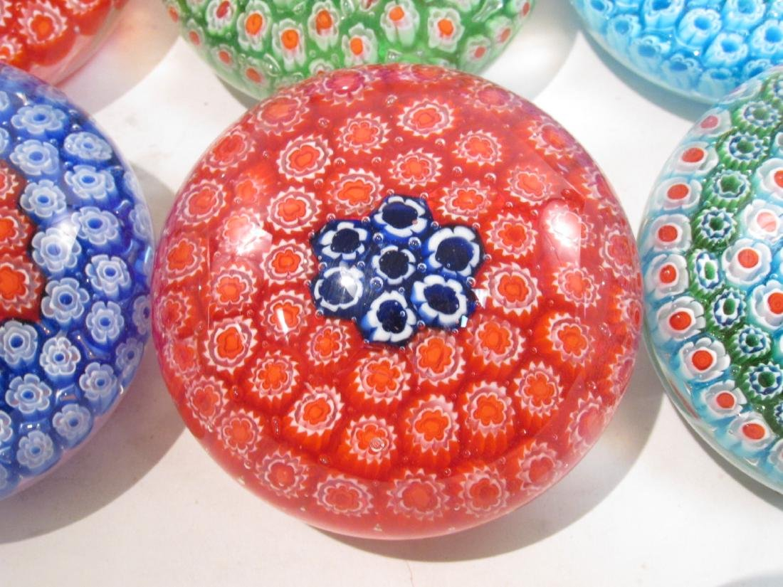 ITALIAN MURANO ART GLASS MILLEFIORI PAPERWEIGHTS 8 - 3