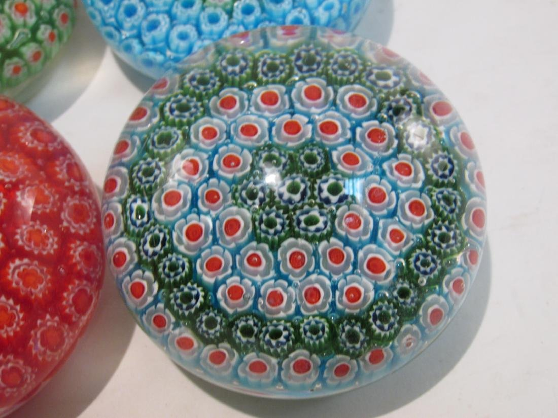 ITALIAN MURANO ART GLASS MILLEFIORI PAPERWEIGHTS 8 - 4