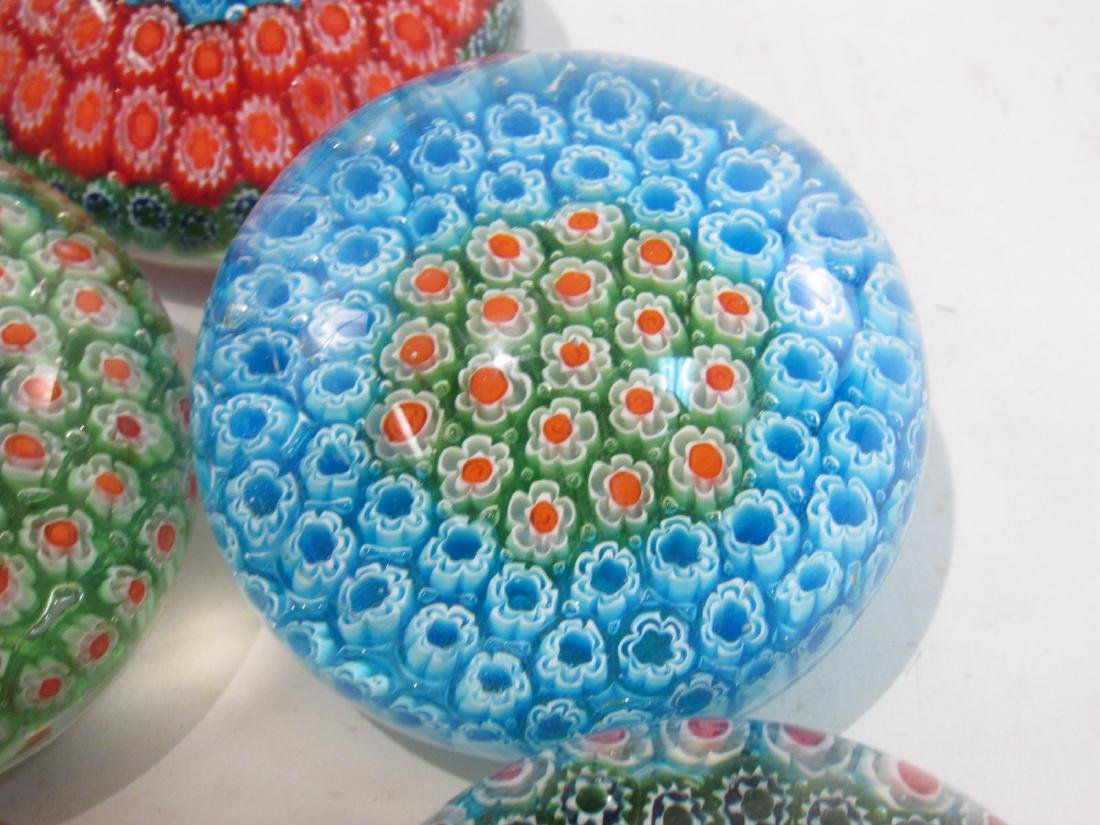 ITALIAN MURANO ART GLASS MILLEFIORI PAPERWEIGHTS 8 - 5