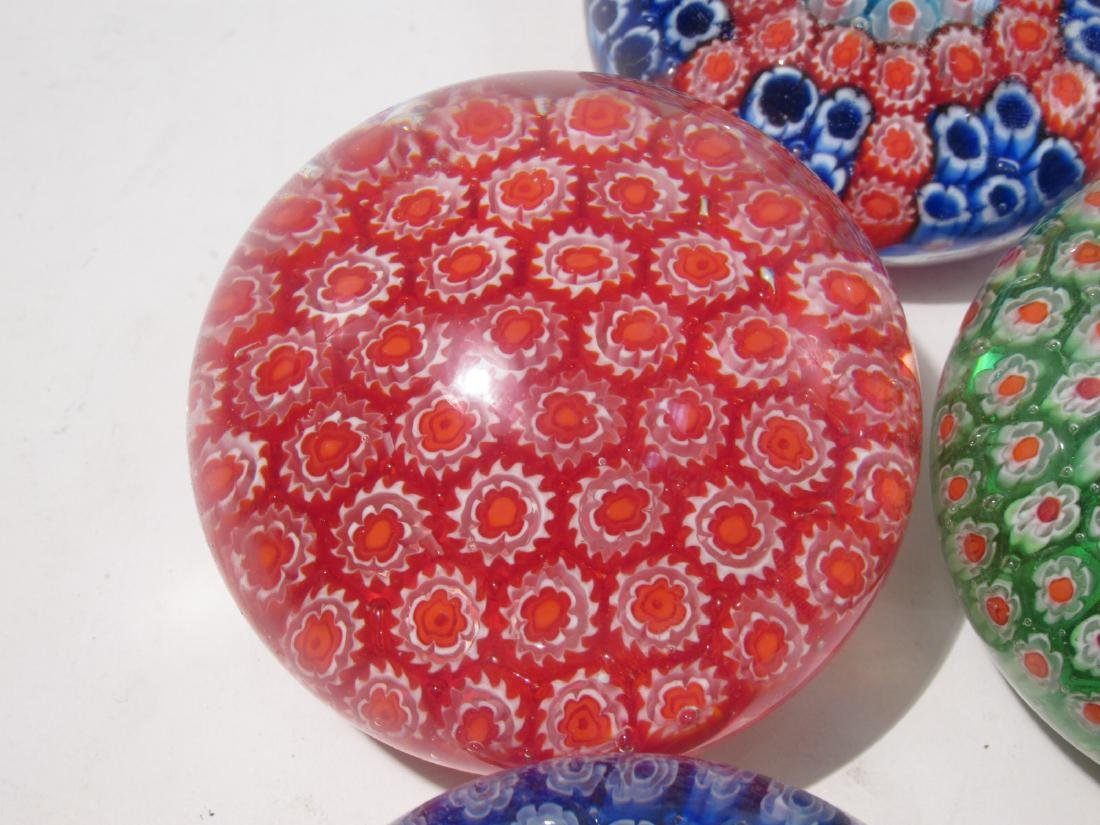 ITALIAN MURANO ART GLASS MILLEFIORI PAPERWEIGHTS 8 - 7