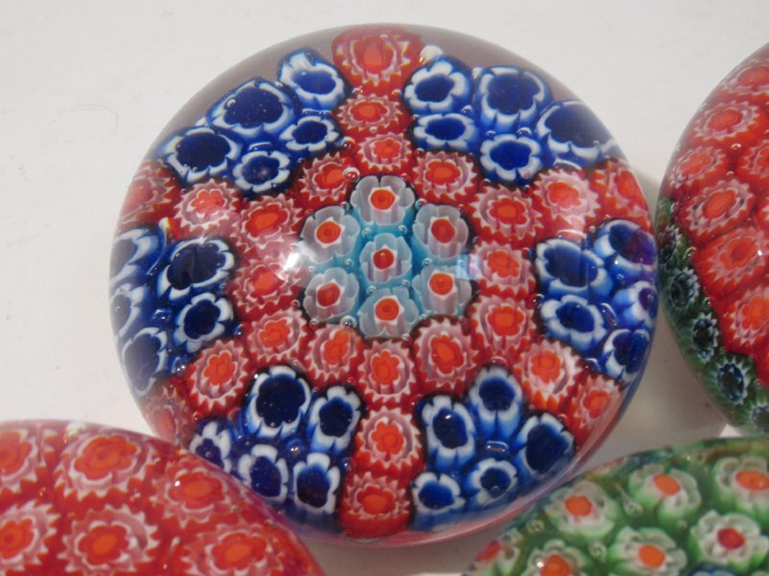 ITALIAN MURANO ART GLASS MILLEFIORI PAPERWEIGHTS 8 - 8