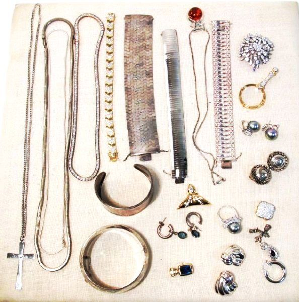 ASSORTED LADIES STERLING & VERMEIL JEWELRY