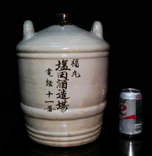 PAIR JAPANESE EARTHENWARE POTTERY JUGS / CROCKS - 7
