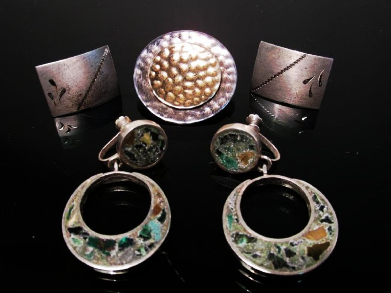 ESTATE STERLING SILVER JEWELRY LOT - 5