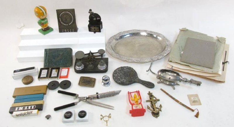 ESTATE LOT: COLLECTIBLES, ADVERTISING ETC.