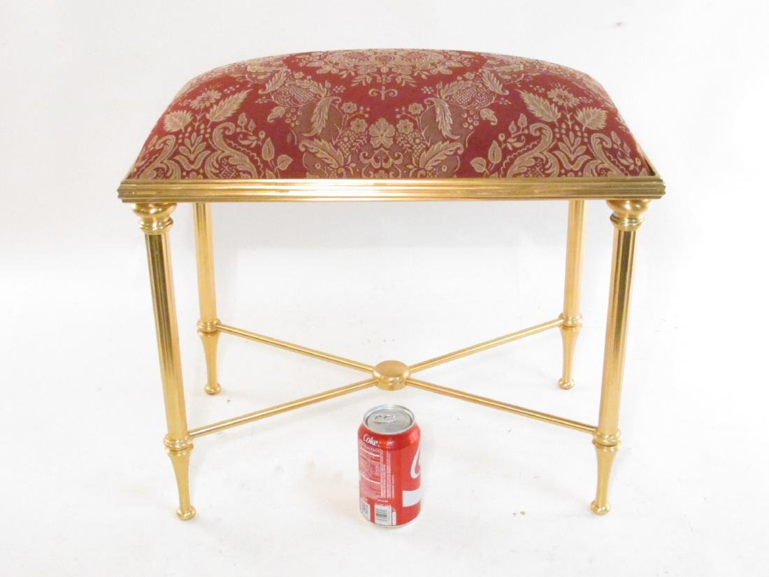 SHERLE WAGNER GILDED METAL VANITY BANQUETTE BENCH - 5