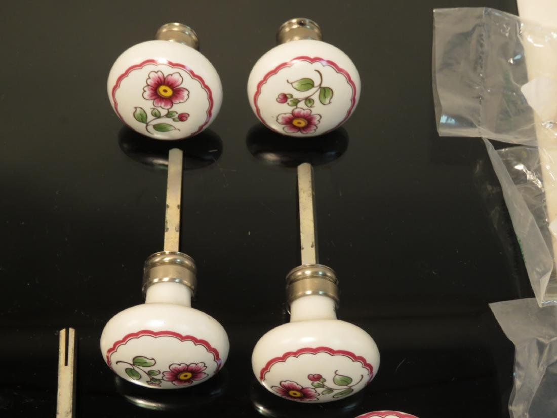 ASSORTED LIMOGES, FRANCE PORCELAIN HARDWARE PULLS - 4