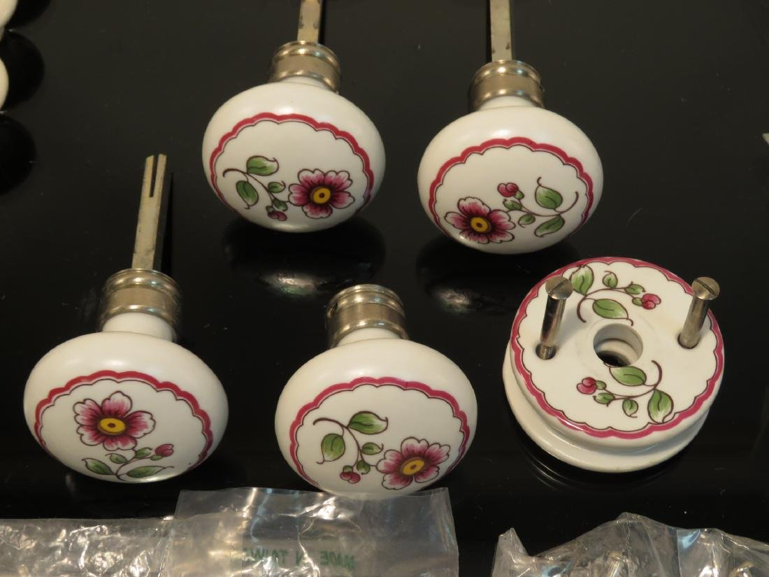 ASSORTED LIMOGES, FRANCE PORCELAIN HARDWARE PULLS - 5