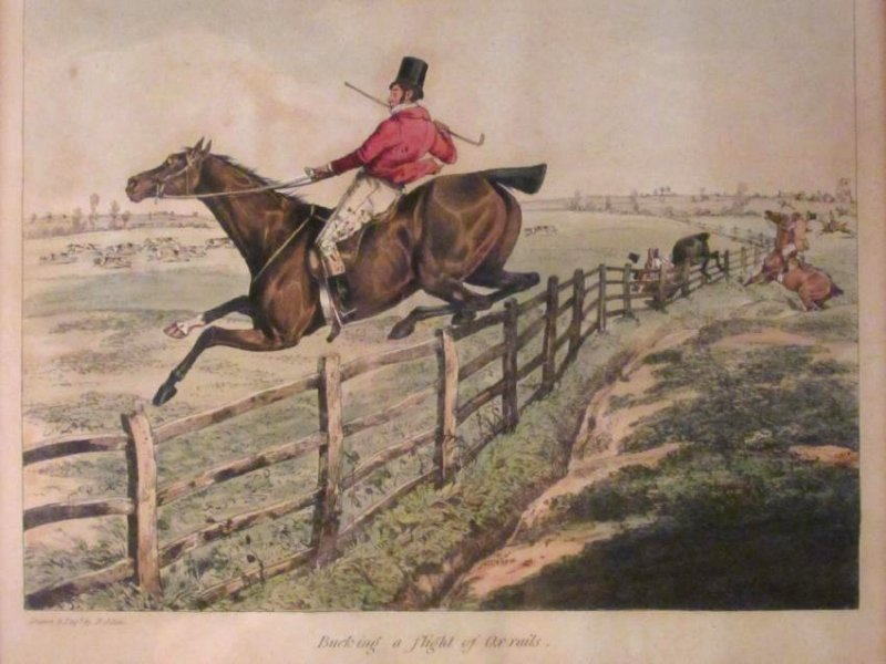 FOUR VINTAGE HAND COLORED ENGRAVINGS & LITHOGRAPHS - 2