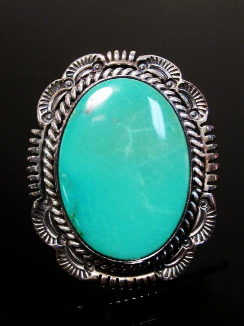 NATIVE AMERICAN TURQUOISE & STERLING EARRINGS - 2