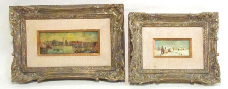 TWO VINTAGE FRAMED ITALIAN PAINTINGS