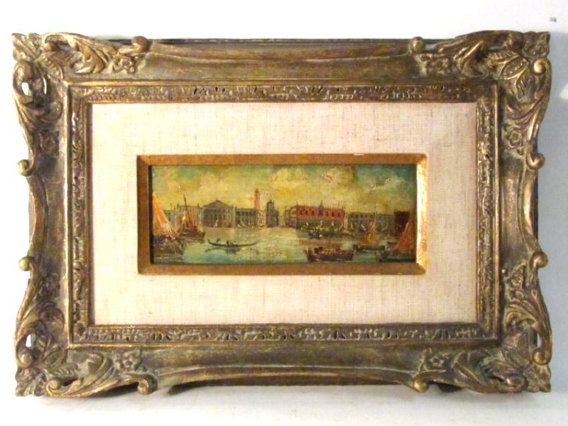 TWO VINTAGE FRAMED ITALIAN PAINTINGS - 2