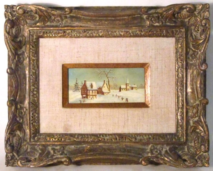 TWO VINTAGE FRAMED ITALIAN PAINTINGS - 6