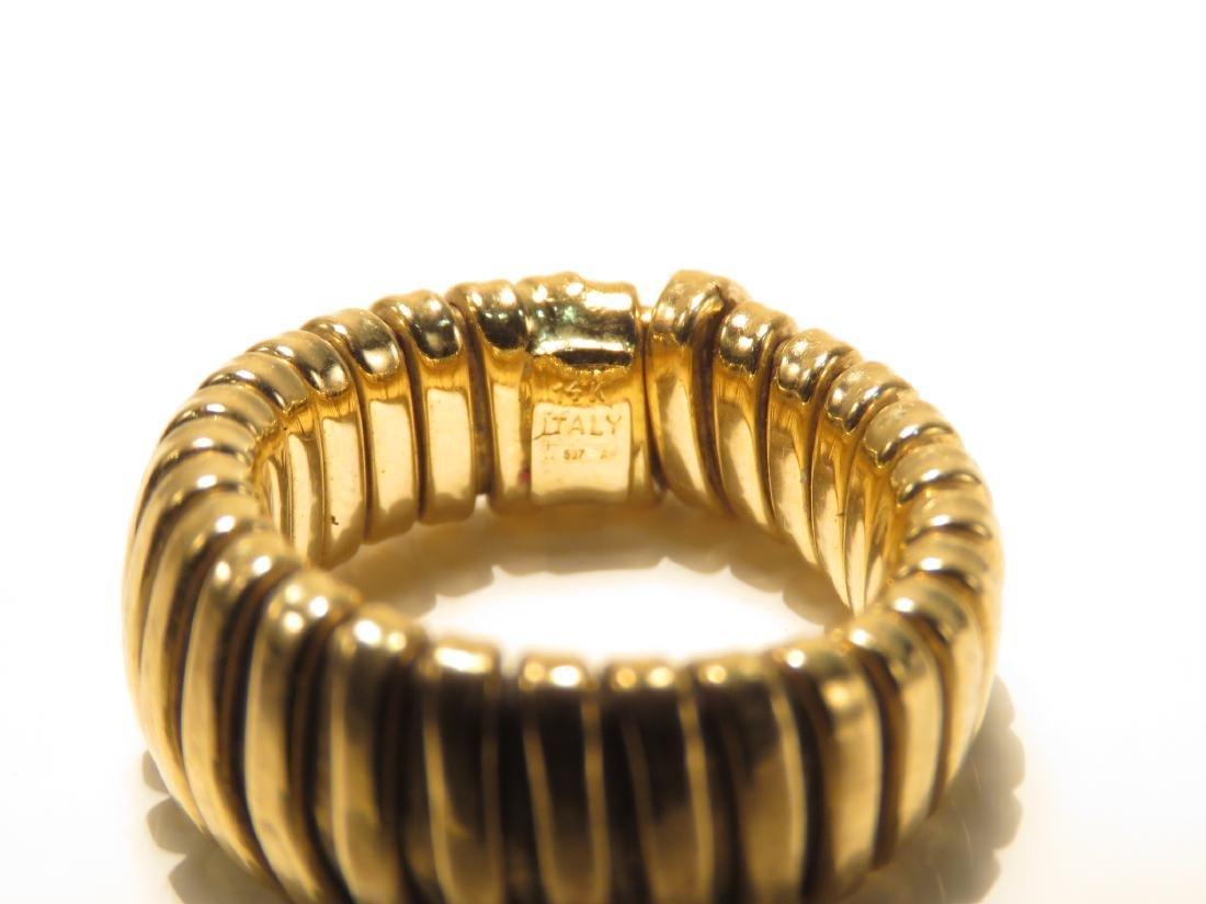 ITALIAN 14K YELLOW GOLD FLEX RING 5.4 GRAMS - 2