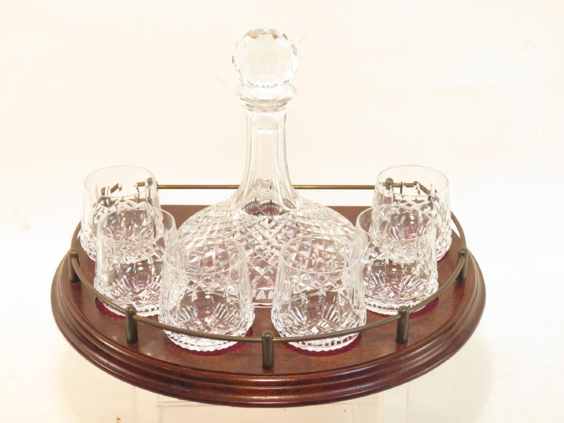 WATERFORD CRYSTAL SHIPS DECANTER BAR SET LISMORE
