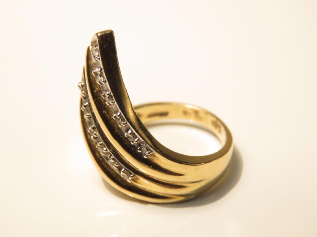 LADIES 14K YELLOW GOLD DIAMOND COCKTAIL RING 6.4G