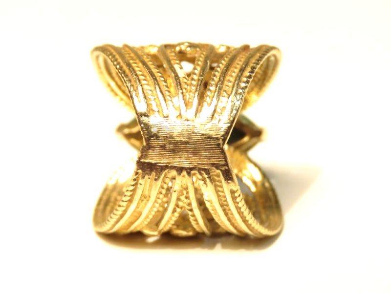 LADIES 10K GOLD DIAMOND & TURQUOISE COCKTAIL RING - 3