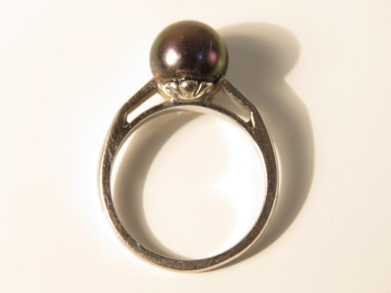 FOUR 14K GOLD RINGS: TURQUOISE DIAMOND, PEARL 26+g - 2