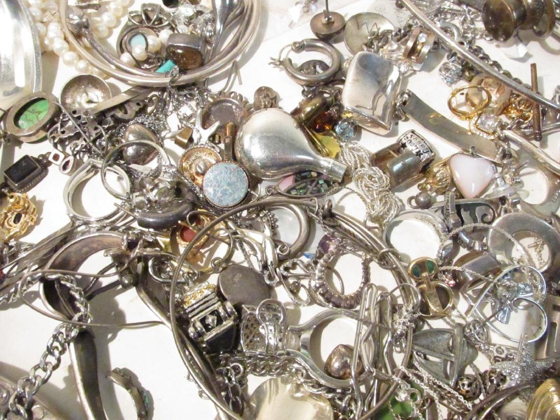 LARGE GROUP OF STERLING & OTHER COSTUME JEWELRY - 9