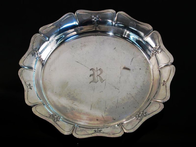 THREE AMERICAN STERLING SILVER DISHES/TRAYS 42.5 t - 8