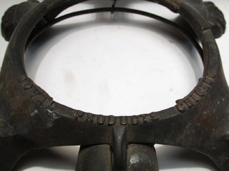 ANTIQUE 1890 MECHANICAL CAST IRON TURTLE SPITOON - 5